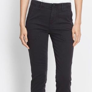 VINCE Skinny Woman Black Military Pant
